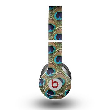 The Multiple Peacock Feather Pattern Skin for the Beats by Dre Original Solo-Solo HD Headphones