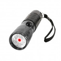 LED Flashlight w/ Red Laser Pointer