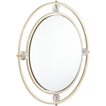 Lucite Floating Round Wall Mirror