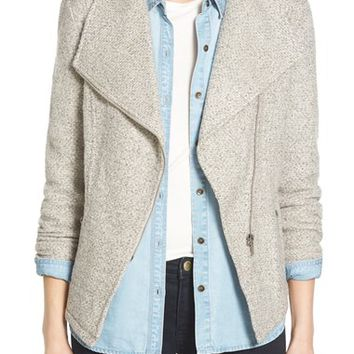 Halogen® Knit Moto Jacket (Regular & Petite) | Nordstrom