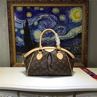 LV Louis Vuitton WOMEN'S MONOGRAM LEATHER HANDBAG