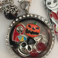 Nightmare Before Christmas Inspired Memory Locket Sally Jack Skellington