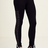 LACE UP WOMENS LEGGING