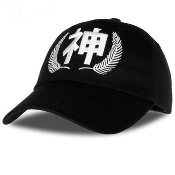 God Baseball Cap men Chinese letter Dad hat strapback adjustable black cap women