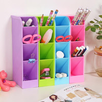 Trapezoid pp plastic organizer box  Desktop Stationery / makeup organizer storage  4 colors can be selected organizador