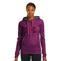 Under Armour Women's Armour Fleece Storm Embroidery Big Logo Hoodie