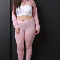 Jersey Knit High Waist Leggings