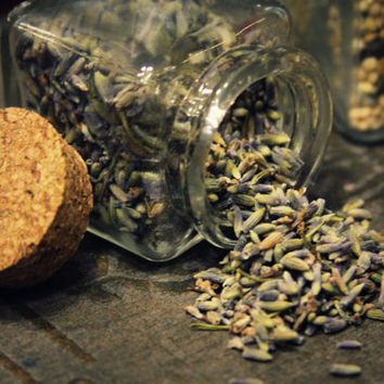 Custom wedding toss favors, 24 - organic dried lavender, flower petals, birdseed, ect - eco rice alternative in glass cork  jars