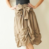 Baby Doll Brown Cotton Dress/Skirt by aftershowershop on Etsy