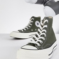 Converse Chuck '70 hi trainers in khaki at asos.com
