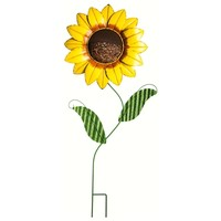 SheilaShrubs.com: Sunflower Garden Stake Bird Feeder 491368 by Evergreen Enterprises: Garden Stakes & Balancers
