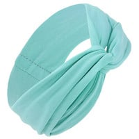 Plain Headband in Aquamarine