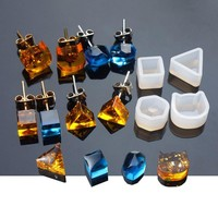 DIY Silicone Earring Ear Stud Mold Making Jewelry Resin Casting Mould Craft Tool   t15