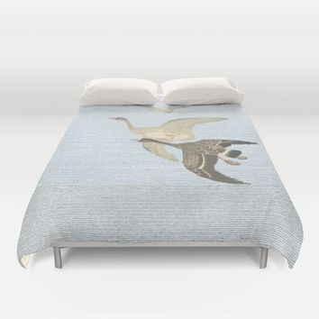 Nothing to match the flight of wild birds flying Duvet Cover by anipani