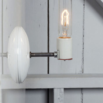 Industrial Wall Sconce - Bare Bulb Lamp
