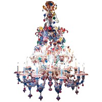 An important large twenty-eight-light Murano Chandelier