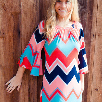 Seaside Chevron Dress