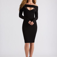 Heartbreaker Cut-Out Off-Shoulder Dress