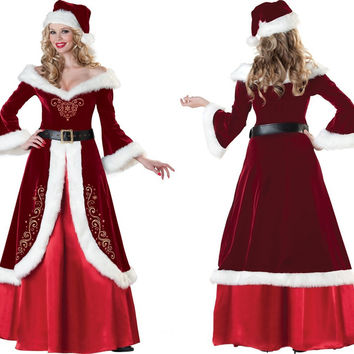 Christmas Long Sleeve Party Cosplay Costume [6580694983]