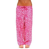 Amazon.com: Womens Soft Animal Print Leopard and Zebra Cotton Pajama Bottoms: Clothing