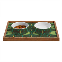 Raven Jumpo Mod Fronds Pet Bowl and Tray