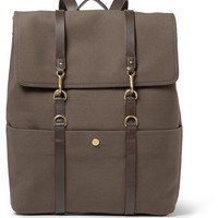 Mismo - Leather-Trimmed Cotton-Canvas Backpack | MR PORTER