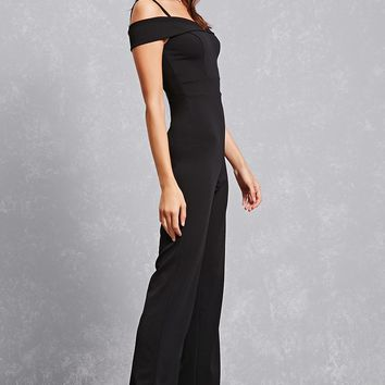 Open-Shoulder Wide Leg Jumpsuit