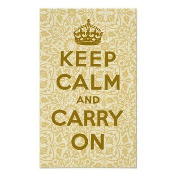 Keep Calm And Carry On Posters from Zazzle.com