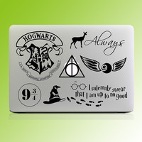 "Harry Potter Theme Laptop Sticker for Macbook Decal Pro Air Retina 11"" 12"" 13"" 14"" 15.6 inch Mac Cover Skin HP Notebook Stciker"