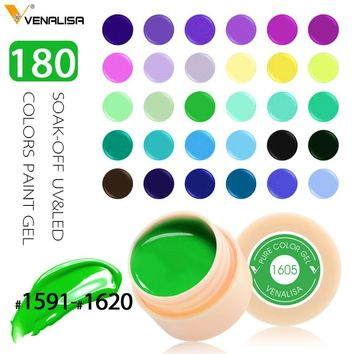 Venalisa painting gel Hot Sell Nail Art uv led 180 colors 5ml professional nail paint color gel polish uv color gel lacquer gels