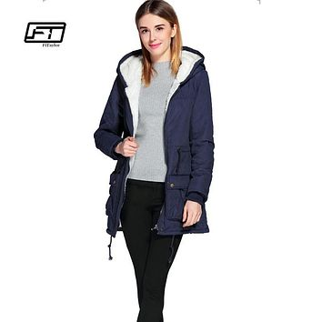 new winter padded coats women cotton wadded jacket medium-long Parka thick warm plus size hooded quilt snow outwear abrigos
