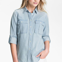 MICHAEL Michael Kors Denim Military Shirt | Nordstrom