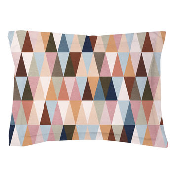 Earth Triangles Pillow Shams