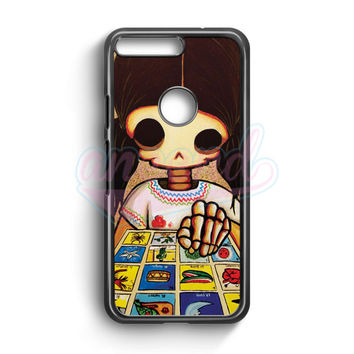 Day Of The Dead Skeleton Girl Google Pixel Case | aneend.com