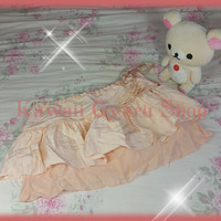 Abercrombie and Fitch Tiered Satin and Cotton Skirt