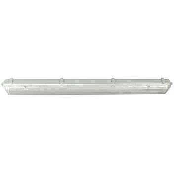 Canarm EFP848232-D Vapor White Two Light Flush Fluorescent Light with Clear Glass