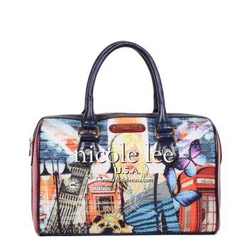 LONDON GIRL PRINT BOSTON BAG - NEW ARRIVALS