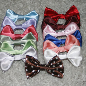 Custom Satin Interchangeable Dog Bow Tie & by GypsyEyesClothing