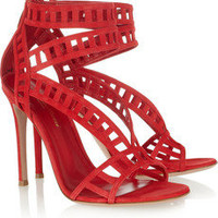 Gianvito Rossi | Cutout suede sandals | NET-A-PORTER.COM