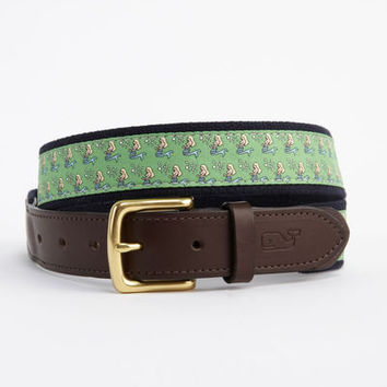 Shop Club Canvas Belts: Mermaid Canvas Club Belt for Men - Vineyard Vines