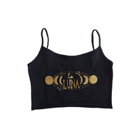 La Luna yoga crop top