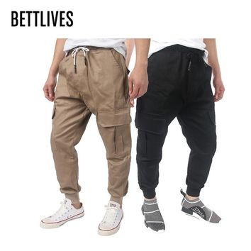 Hight Street Men's Cargo Pants Mens Cotton Casual Pants Men's Working Trousers with Pockets Military Overalls Pants Men VB1221