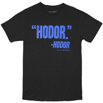 Game of Thrones Hodor's Thoughts Quote Licensed Adult T-Shirt - Black