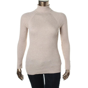 Grane Womens Juniors Wednesday  Ribbed Knit Turtleneck Pullover Sweater
