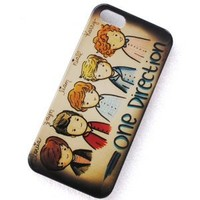 Huaqiang3c® FREE USPS SHIPPING for Apple iPhone 5 5G British-Irish Boy Band One Direction 1D Cartoon Design Hard Snap-on Crystal Case Cover Skin Protector