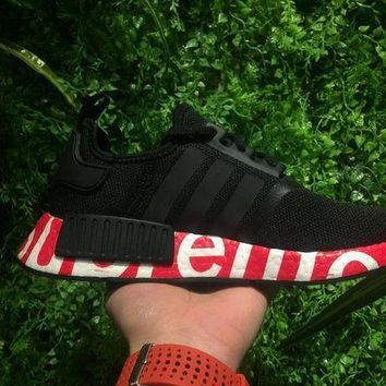 PEAPGE2 Beauty Ticks Supreme Sup X Adidas Nmd R1 Black/red Runner Pk Boost Fashion Trendin