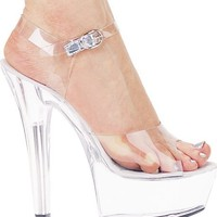 Women's 6 Inch Heel Platform Sandal With Ankle Strap