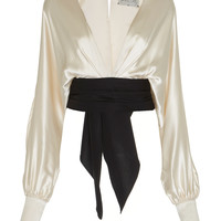 Tawari Silk Satin Top | Moda Operandi