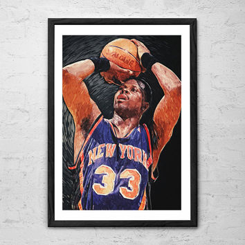 Patrick Ewing, Wall art Poster - Fine Art Print for Interior Decoration