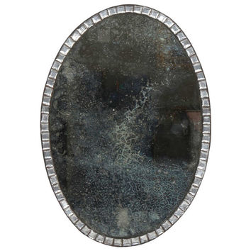 18th Century Oval Irish Clear Glass Mirror
